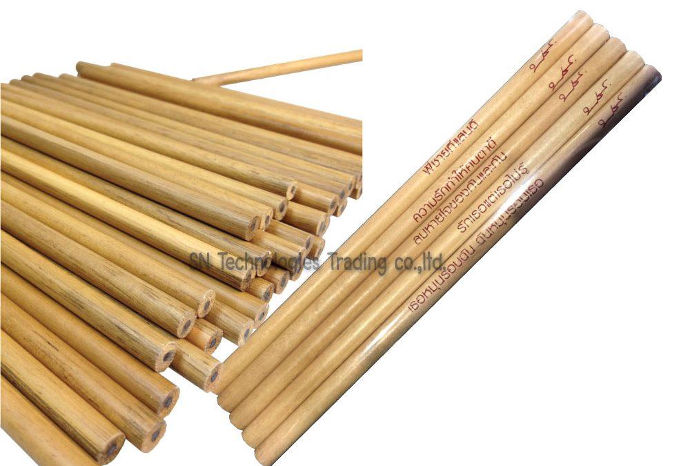 ดินสอไม้ สกรีนโลโก้
