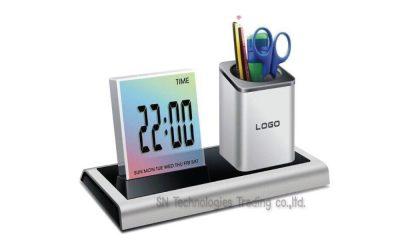 นาฬิกาตั้งโต๊ะ มีที่ใส่ปากกา(2)