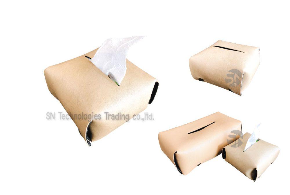 กล่องทิชชู่เล็ก หนังPU
