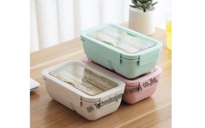 กล่องอาหารฟางข้าวสาลี(No.2)
