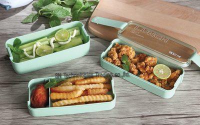 กล่องอาหารฟางข้าวสาลี (No.5)