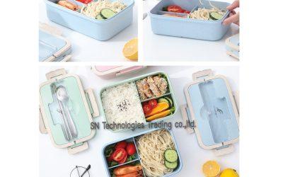 กล่องอาหารฟางข้าวสาลี(No.6)