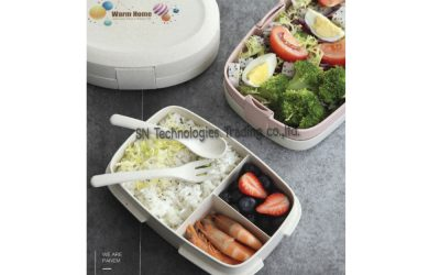 กล่องอาหารฟางข้าวสาลี(No.7)