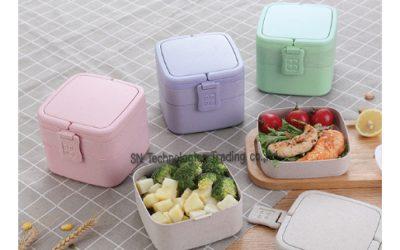 กล่องอาหารฟางข้าวสาลี(No.8)