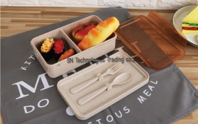 กล่องอาหารฟางข้าวสาลี(No.9)