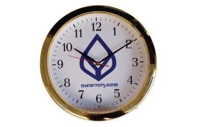 นาฬิกาแขวน 15 นิ้ว ทรงกลม สีทองเงา (15)