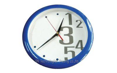 นาฬิกาแขวน 10 นิ้ว ทรงกลม ขอบสี (17)
