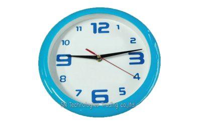 นาฬิกาแขวน 10 นิ้ว ทรงกลม ขอบสี (18)