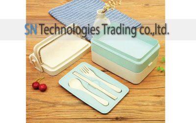 กล่องอาหารฟางข้าวสาลี(No.24)