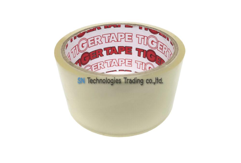 เทปกาวปิดกล่อง (OPP TAPE) สีใส 45 หลา (TIGER)