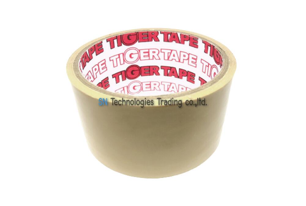 เทปกาวปิดกล่อง (OPP TAPE) สีน้ำตาล 45 หลา (TIGER)