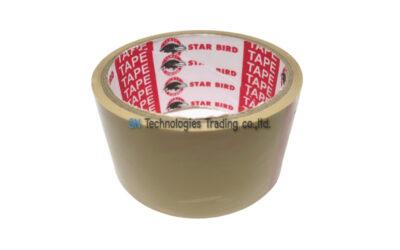 เทปกาวปิดกล่อง (OPP TAPE) สีน้ำตาล 45 หลา (STAR BIRD)