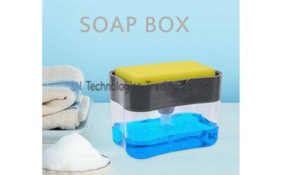 ที่วางฟองน้ำกดน้ำยาล้างจานอัจฉริยะSoap pump Sponge Caddy