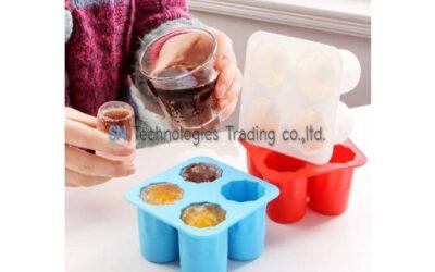 แม่พิมพ์ซิลิโคนแก้วช็อต 4 แก้ว ice shot glass